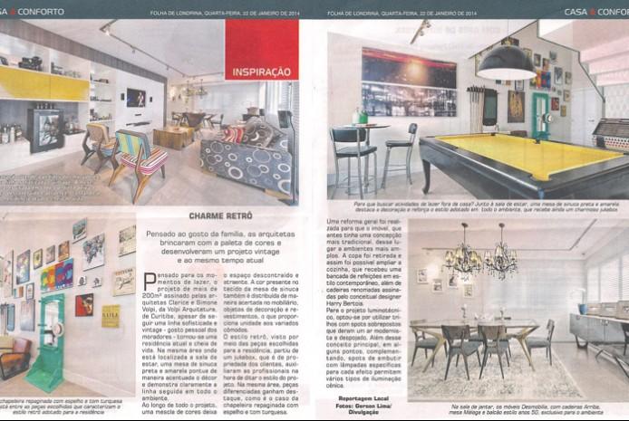 Folha  de Londrina - Casa e Conforto - Janeiro